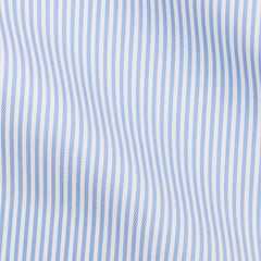 Thomas-Mason-twill-stripe-mid-blue-B190gr Fabric