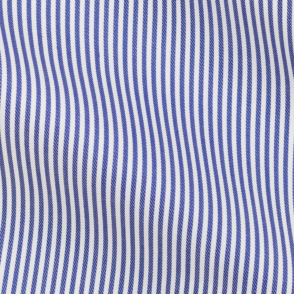 Thomas Mason twill stripe dark blue