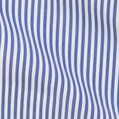 Thomas-Mason-poplin-bengal-stripe-dark-blue-B160g Fabric