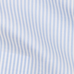Thomas-Mason-oxford-stripe-light-blue-B154g Fabric