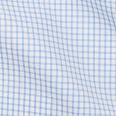 Thomas-Mason-twill-check-light-blue-B188g Fabric