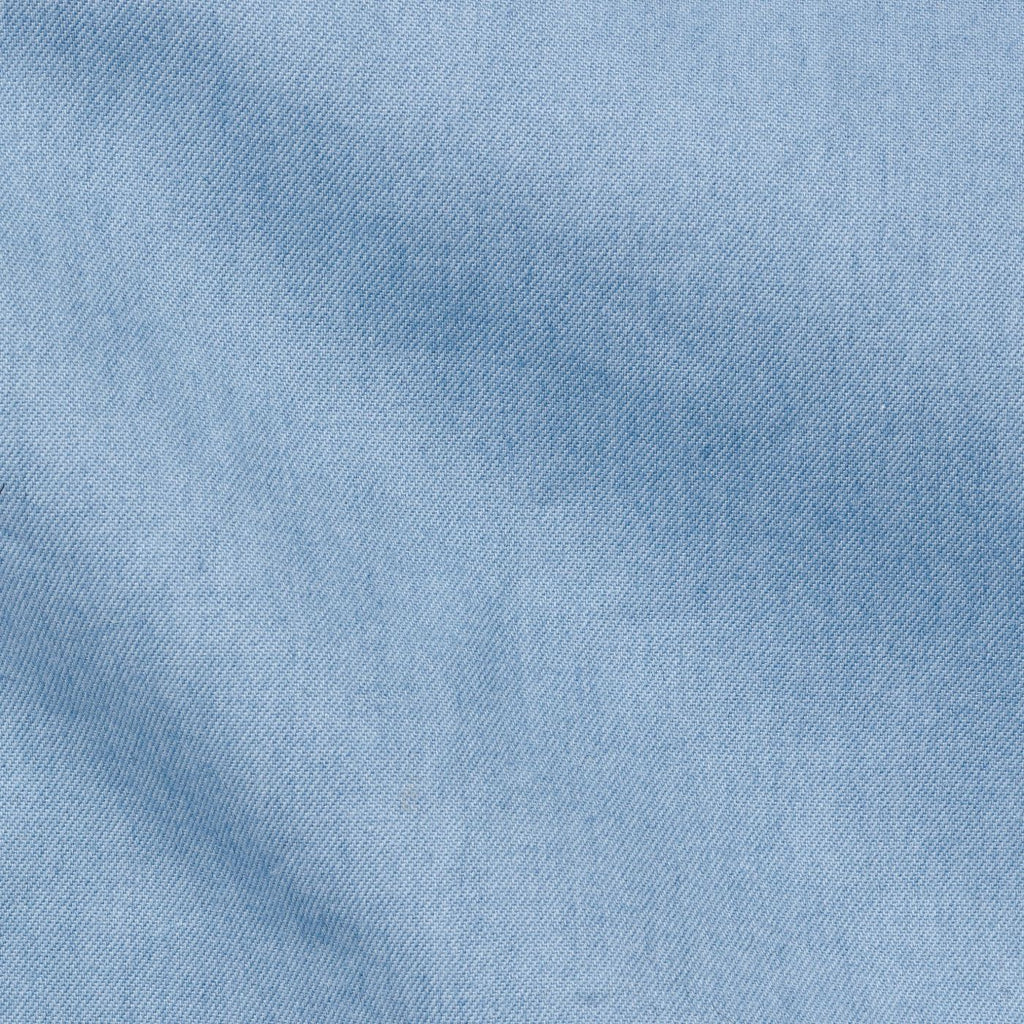 Thomas Mason washed denim light blue