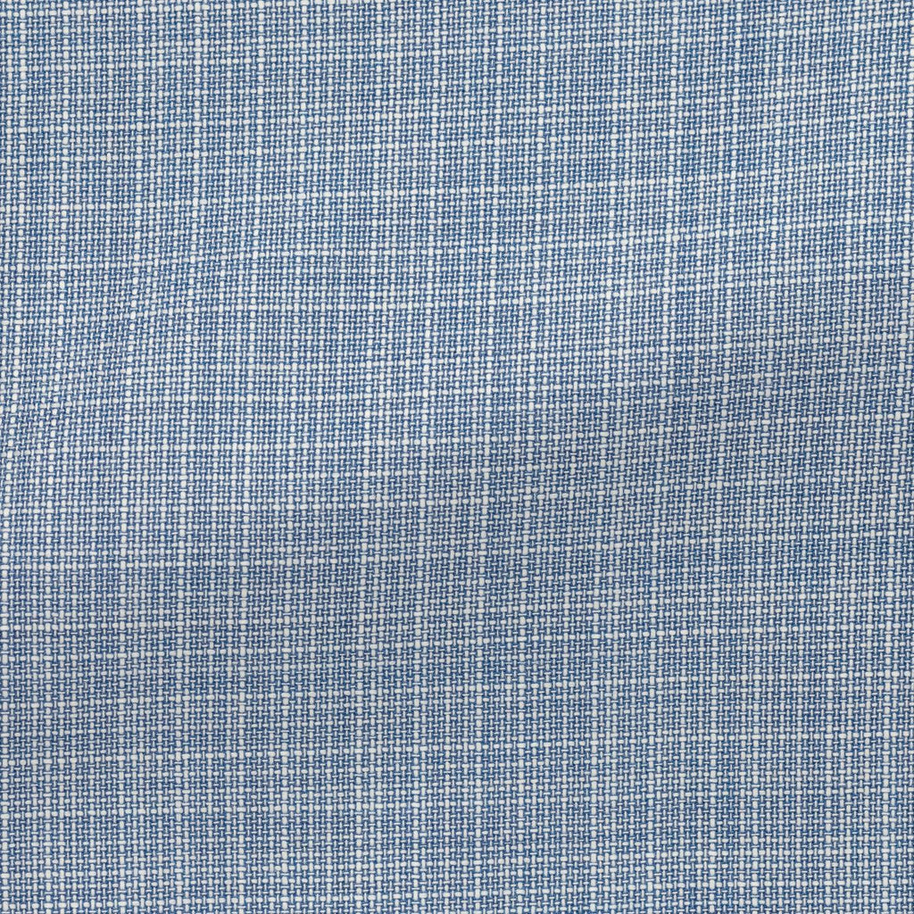 blue white wool fancy weave