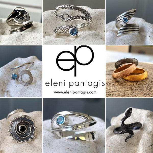 Jewelry designed by Eleni Pantagis