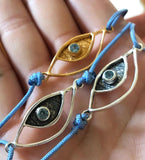 Evil eye bracelet with gemstone