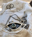 evil eye necklace handmade silver evil eye necklace with gemstone