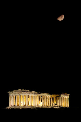 acropolis at night athens greece tour with moon athens by night