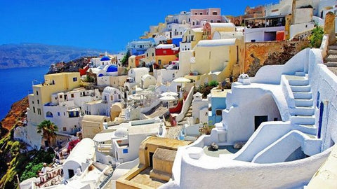santorini  gift shop handmade silver jewelry ceramic greek products