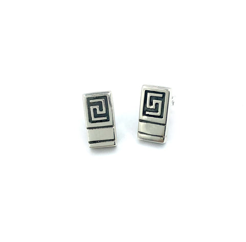 square greek key earrings, greek pendant, greek jewelry, meander earrings