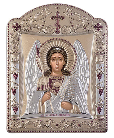 Archangel Michael, Eastern Orthodox Icon, Gold 16.7x22.4cm - Handmade with love from Greece