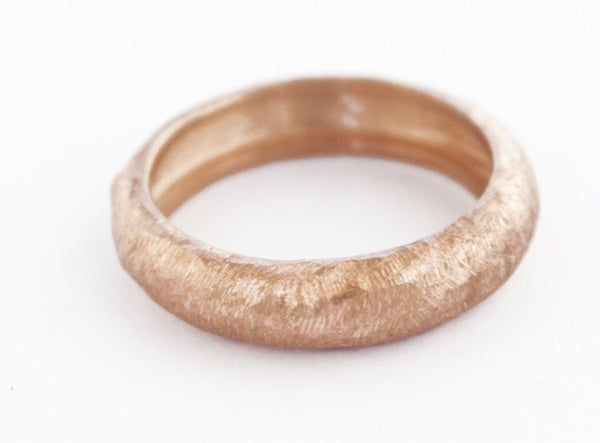 rose gold stacking ring, sterling silver stacking ring, textured pink stack ring - Handmade with Love - Eleni Pantagis