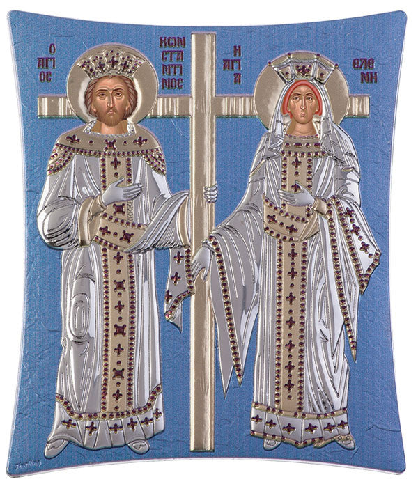Saint Constantine and Helen, Orthodox icons for sale, Blue Ciel 11.8 x 14.6cm
