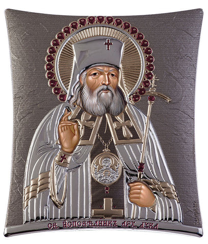 Saint Lucas Russian Orthodox Icon, grey