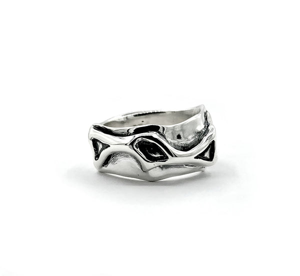 Men's silver ring, tribal ring, sterling silver abstract ring