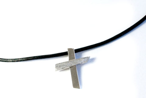 mens silver cross necklace, silver cross pendant