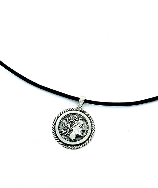 Alexander the great pendant, Alexander coin pendent, Alexander the great jewelry