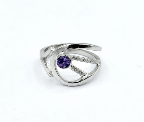 Amethyst Silver ring, Amethyst ring, February birthstone ring - Handmade with love from Greece