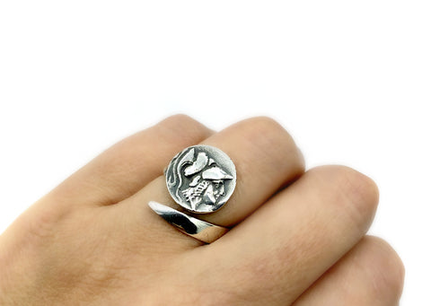 Athina ring, goddess athena ring, athina silver ring - Handmade with love from Greece