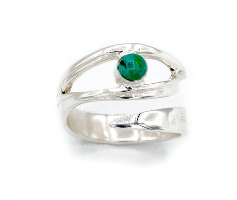 eye turquoise stone silver ring, silver eye ring turquoise stone ring - Handmade with love from Greece