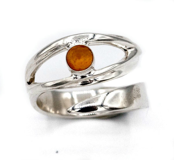 eye ring, evil eye ring, silver evil eye, November birthstone ring, citrine ring