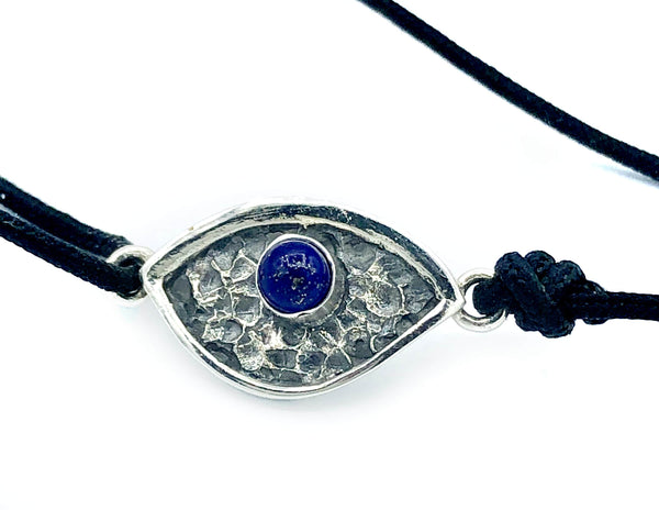 Evil eye bracelet, blue lapis stone, evil eye small bracelet