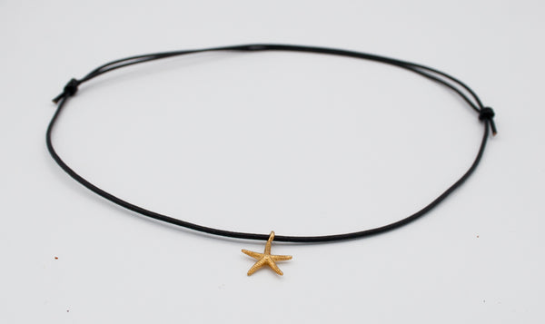 starfish gold charm pendant sterling silver