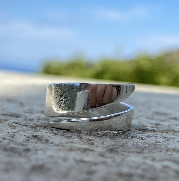 Silver ring, adjustable handmade silver ring