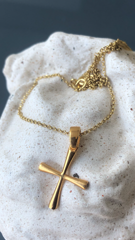 small cross gold, womans gold cross with gold chain