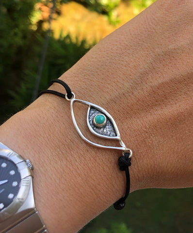 Evil eye bracelet evil eye jewelry with turquoise stone, evil eye bracelet