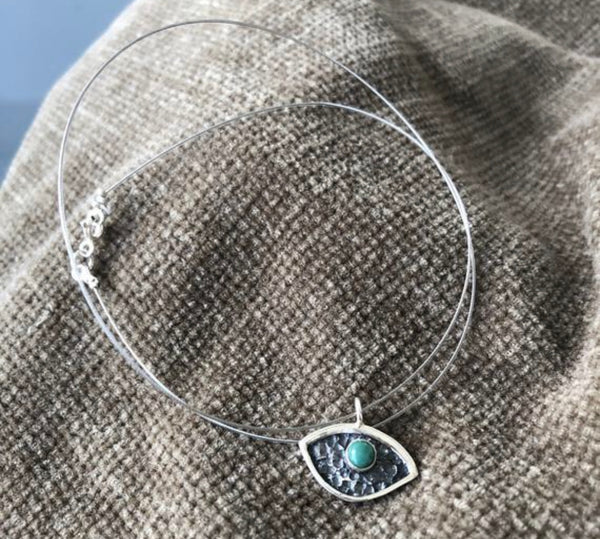 Evil eye necklace with turquoise