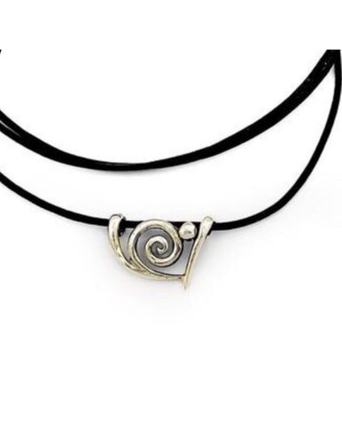 Spiral pendant, spiral  jewelry, sterling silver swirl pendant