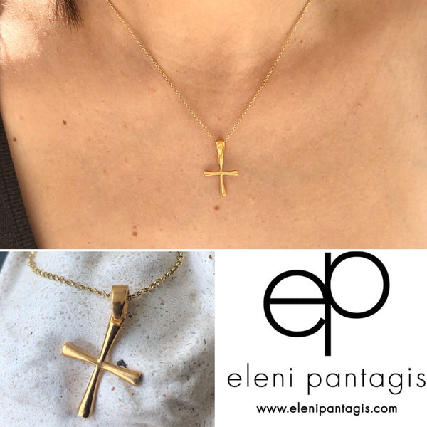 small silver cross gold, woman's silver cross