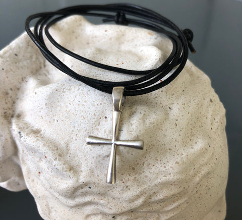 Small silver cross, woman's silver cross