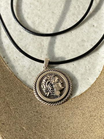 alexander the great silver necklace