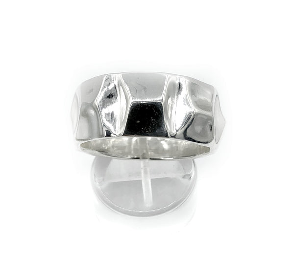 Men's silver ring, mountain ring