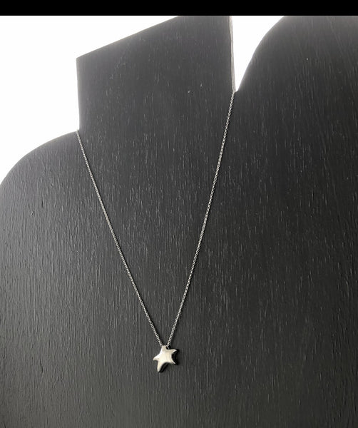 silver star necklace, Sterling silver star pendant