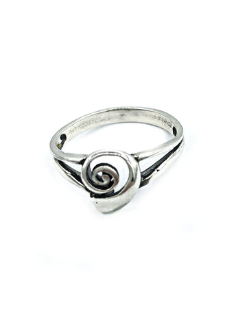 Swirl ring, greek ring, greek jewelry, silver swirl ring