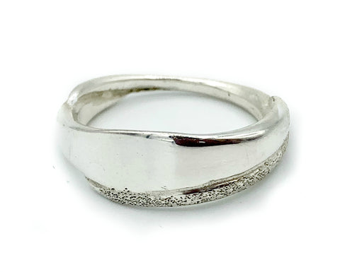 Greek Ring - Sterling silver ring textured silver ring handmade in Greece - Handmade with love from Greece