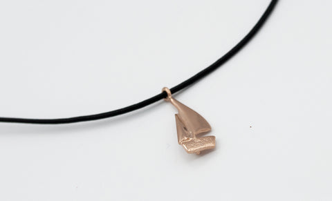 leather cord adjustable sailboat charm necklace pink sailboat charm pendant