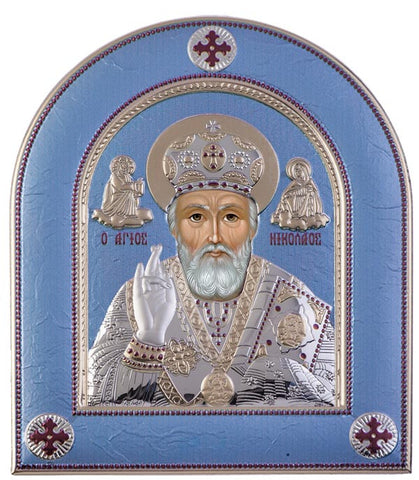 Saint Nicholas Byzantine Greek Orthodox religion, Grey - Made in Greece