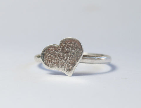silver heart  ring sterling silver rough textured silver heart ring dainty silver heart ring Made in Greece