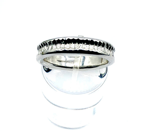 silver stacking ring, rhodium plated stacking ring, silver band