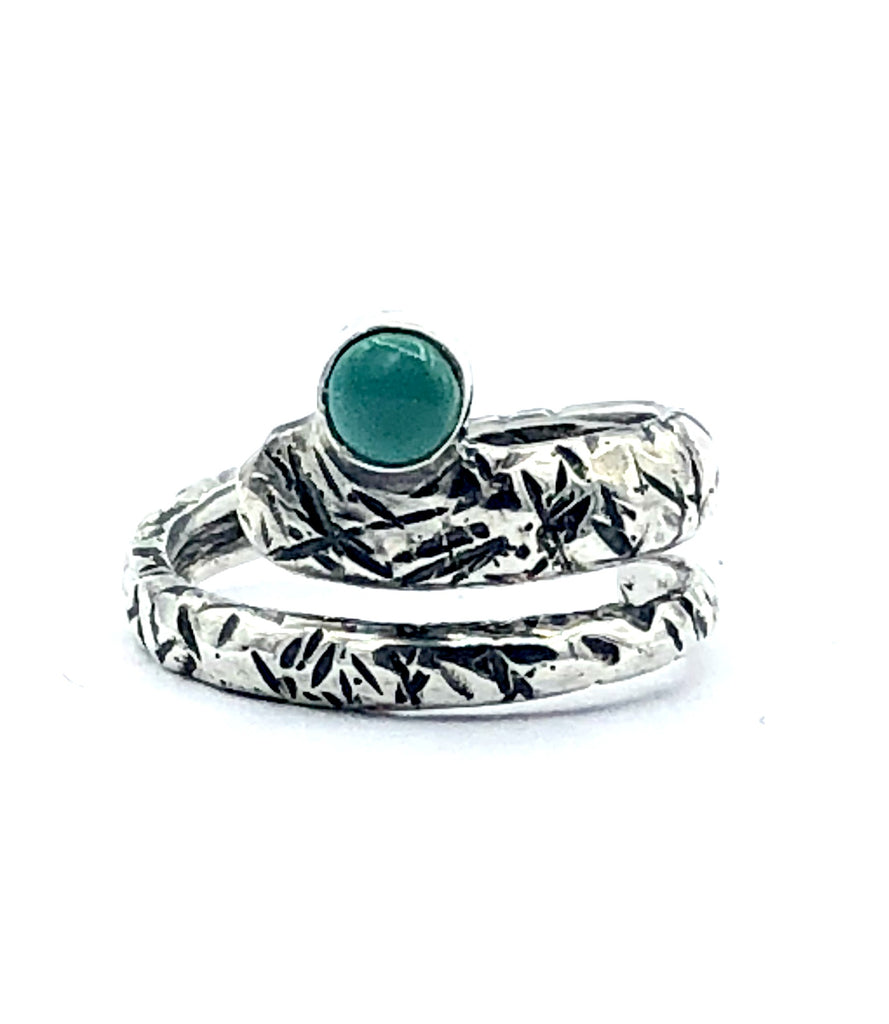 turquoise ring, snake ring, blue green stone ring