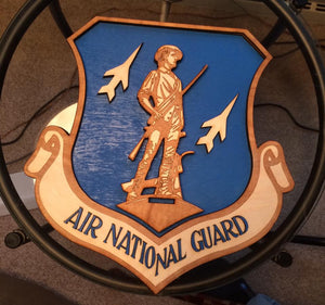 Air National Guard Plaque - Back Door Wood Shop