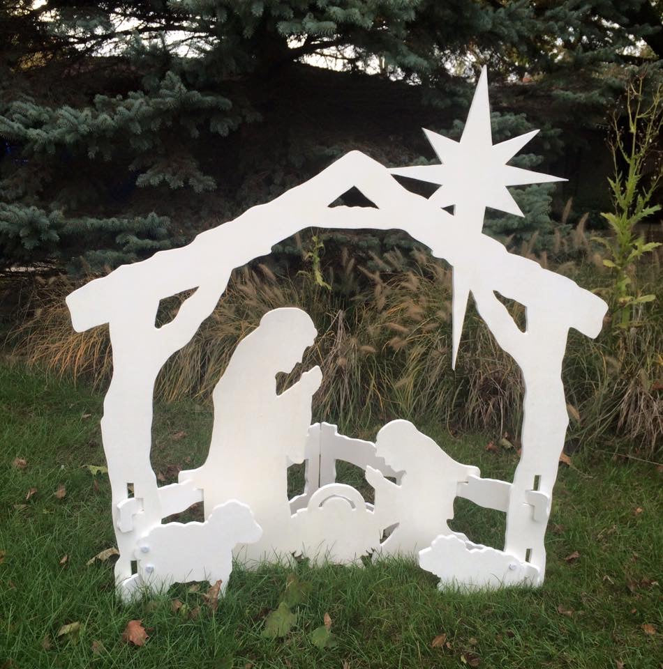 Yard Nativity Scene - Back Door Wood Shop