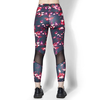 Ath Perform High Waist 7/8 Leggings Blossom-Sports Leggings HWC-Silvertraq-Silvertraq