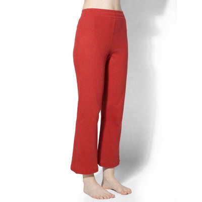 Gypsy Ribbed Lounge Pants Rust-T-Shirt-Silvertraq-Silvertraq