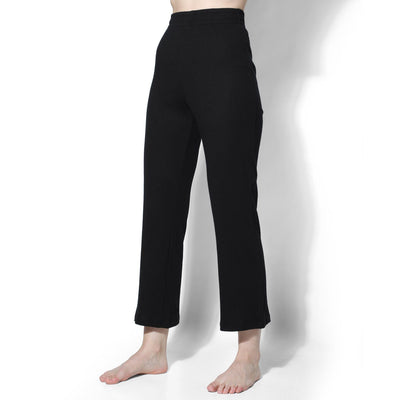 Gypsy Ribbed Lounge Pants Black-T-Shirt-Silvertraq-Silvertraq