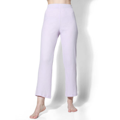 Gypsy Ribbed Lounge Pants Lilac-T-Shirt-Silvertraq-Silvertraq