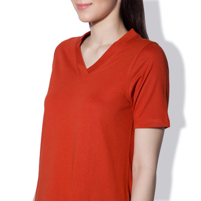 Petra V Neck Dress Roobois Tea-T-Shirt-Silvertraq-Silvertraq